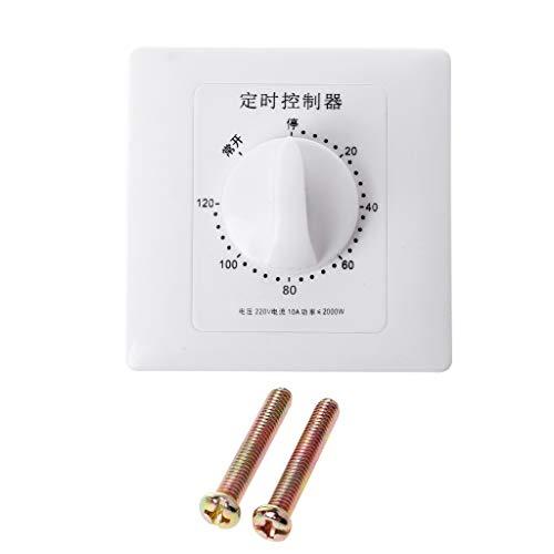 Zuanty AC 220V Zeitschaltuhr Controller Pumpe mechanische Countdown-Steuerung Interrupt 30/60/120 Minuten-120