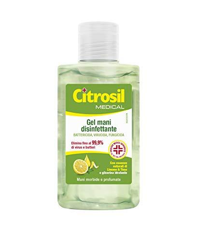 CITROSIL - Gel di Alcool Disinfettante per Mani, Igienizzante Gusto Limone e Timo, per Mani Morbide e Profumate con Proprietà Antibatteriche - Flacone da 100 ml