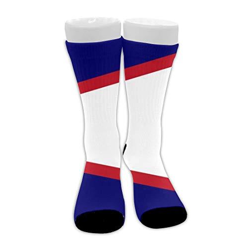 Flag of American Samoa Calcetines de tripulación con cojín transpirable de tobillo alto para hombres, mujeres, niñas, niños, novedad, viajes, senderismo, calcetines, tobilleras suaves y tran