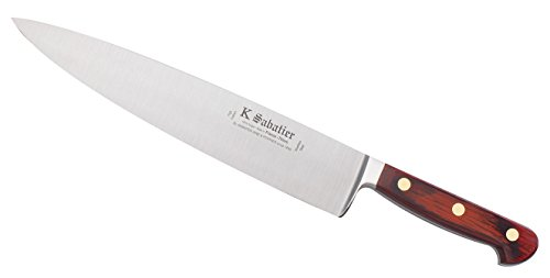 K SABATIER - Cuisine 26 Cm Gamme Auvergne - Acier Inoxydable - Manche Bois - 100% Forge - Entièrement Fabrique en France