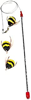 Go Cat Da Bee Teaser Wand and Two Extra Bee Attachments from The Maker of Da Bird and Cat Catcher - Value Pack