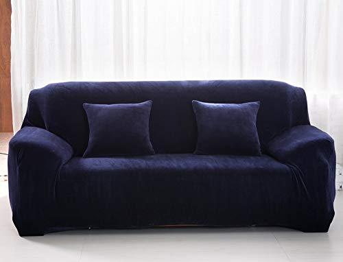 Univsal Fundas de sofá Gruesas de 1/2/3 plazas, Color Puro, Protector de sofá de Terciopelo, Tela elástica de fácil Ajuste, 1 Seat