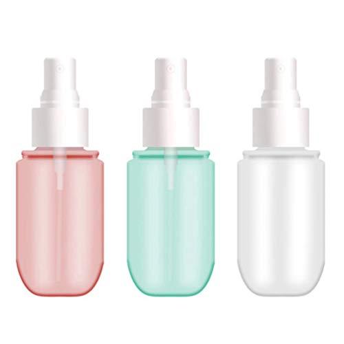 Solustre 3 Pcs Rechargeable Brume Fine Parfum Bouteille De Pulvérisation Transparent Vide Pulvérisateur Bouteille Pulvérisateur Cosmétique Bouteilles 60 ML
