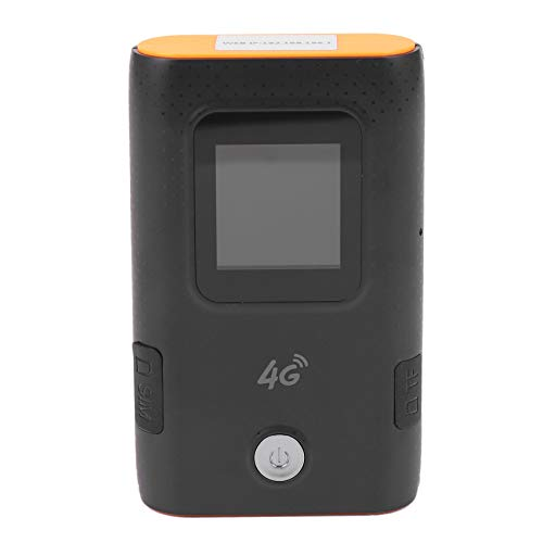 Motyy 4G Wifi Router Car Mobile Hotspot Broadband Pocket Mifi Unlock Lte Modem Wifi Extender Repeater Router(Black)
