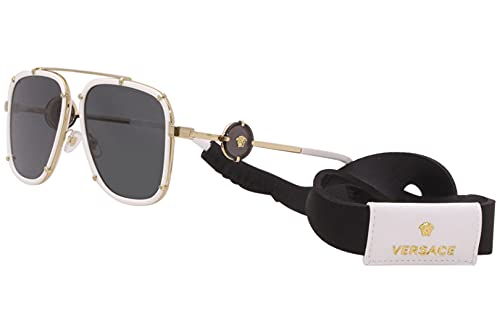 Versace VE2233 Gafas de sol - (147187) Blanco/Gris Oscuro - 60mm