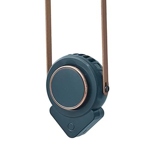 Jiaermei Ventilador De Cuello Colgante USB Portátil Manos Libres Recargables Funciona con Pilas con 3 Velocidades Mini Ventilador De Enfriamiento