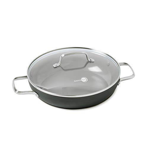 GreenPan Chatham 11' ceramic Non-Stick Covered Everyday Pan with 2 Helpers, Grey - CC000121-001