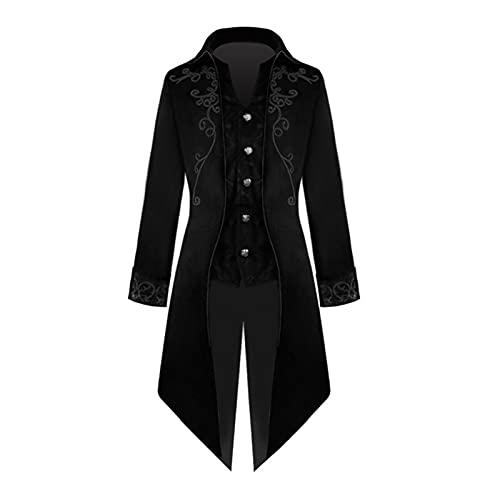 Hcxbb-1 Vintage Steampunk abrigo for hombres Halloween Navidad Cape Unisex Negro Negro Oscuro Capas Nobles Adultos Vampos Cape (Color : 01, Size : M)