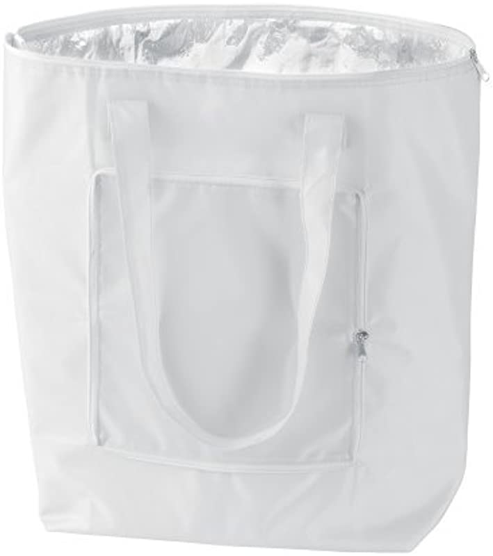 EBuyGB 25 Litre Cool Bag Which Folds Down For Easy Carrying Foldable Cooler Bag White