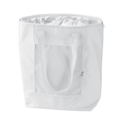 eBuyGB zusammenklappbar Kühltasche, Polyester, Weiß, 22.61 X 30 cm X 3,2 cm