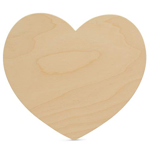 Wooden Hearts Shapes 11-1/4 x 10 x 1/8 Inch, Bag of 3 Unpainted Large Wood Heart Cutout Shapes, Plain, Smooth, Ready to Paint and Decorate Valentines Craft, DIY and Craft Projects. by Woodpeckers