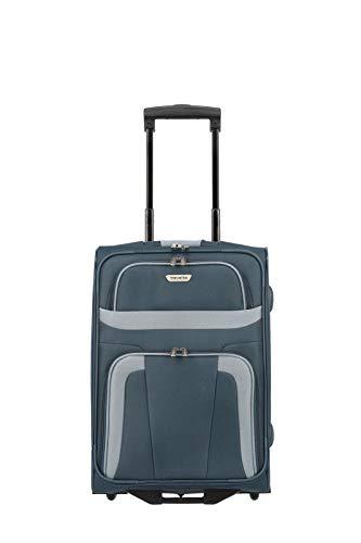 Travelite 2-Rad Handgepäck Koffer erfüllt IATA Bordgepäck Maß, Gepäck Serie ORLANDO: Klassischer Weichgepäck Trolley im zeitlosen Design, 098487-20, 53 cm, 37 Liter, marine (blau)