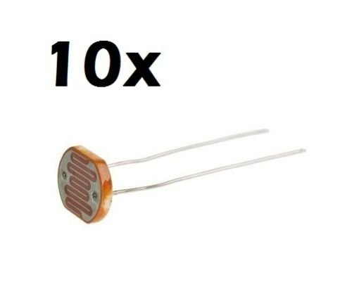 10X fotoresistenza 5mm LDR 5528 fotosensore fotocellula photoresistor (arduino-compatibile)