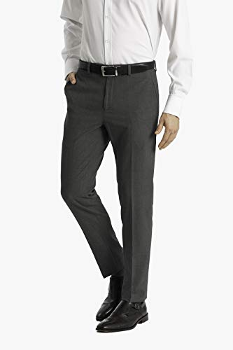 Calvin Klein Men's Skinny Fit Stretch Dress Pant, Medium Gray, 3030