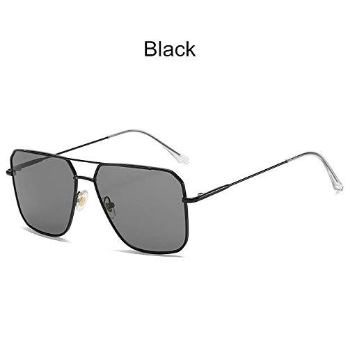 Gafas de sol vintage de gran tamaño para hombres antirreflectante espejo clásico cuadrado de metal gafas de moda mujeres gafas de sol