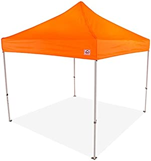 Impact Canopy 10' x 10' Pop-Up Canopy Tent, Powder-Coated Steel Frame, Straight Leg, Roller Bag, Orange