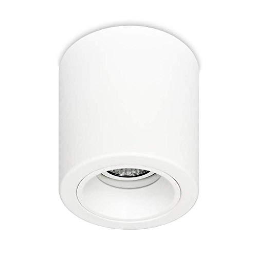 LED Deckenleuchte Aufbauleuchte Aluminium ROLLER BIG GU10 Weiß Alu IP20 Aufbauspot Downlight (Big Roller Weiß)