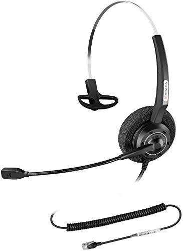 Arama Telefon Headset with Noise Cancelling Mikrofon RJ9 Headset für Yealink SIP T41S T42S T46S T48S Grandstream GXP1625 GXP2160 GXP2170 Avaya 1608 9608G Cisco KXT IP-Telefone