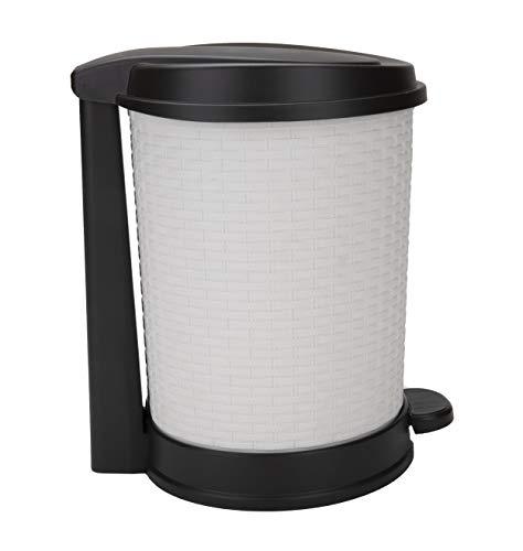 Mind Reader TOSSBIN-IVO Liner 21 L Waste Bin Trash Can with Handle and Foot Pedal for Bathroom, Office, Dorm Rooms, Ivory -  EMS Mind Reader LLC
