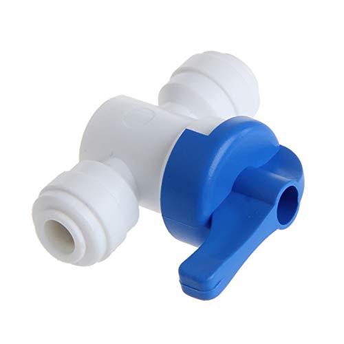 ZhengELE Válvula Válvula de Bola 6mm 1/4'Tubo OD Port Sistema DE Agua DE Agua PLÁSTICO Conector