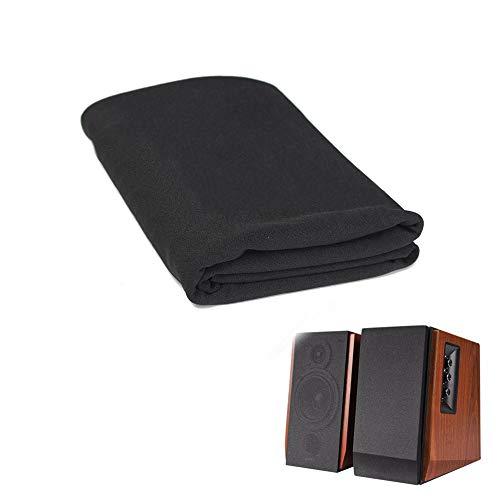 Flushbay Speaker Grill Cloth Black Speaker Fabric Protective Dustproof Mesh Cloth Stereo Fabric for Audio Amplifier Speaker Repair 50x160cm/19.7''x63'
