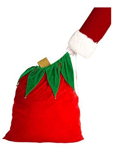 Bolsa de terciopelo para disfraz de Papá Noel con campanas