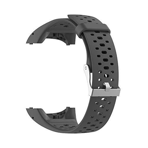 RYRA Cinturini per Orologi in Silicone compatibili con Polar M400 M430, Cinturini di Ricambio Regolabili in Gomma per Il Fitness Tracker Sportivo per Uomo e Donna