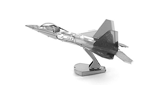 Fascinations Metal Earth MMS050 - 502482, Lockhead Martin F22 Raptor, Konstruktionsspielzeug, 1 Metallplatine, ab 14 Jahren