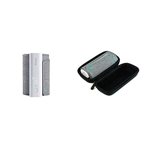 Pack: dispositivo BPM Connect de Withings + funda de viaje: tensiómetro compatible con la aplicación Health Mate mediante conexión wifi y Bluetooth