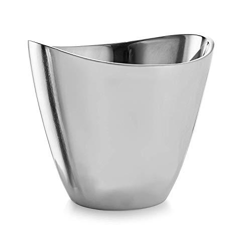 Nambe Vie Alloy Champagne Bucket 7.5 Inches High - Perfect Wedding Gift - Elegant Modern Design - Wine Cooler