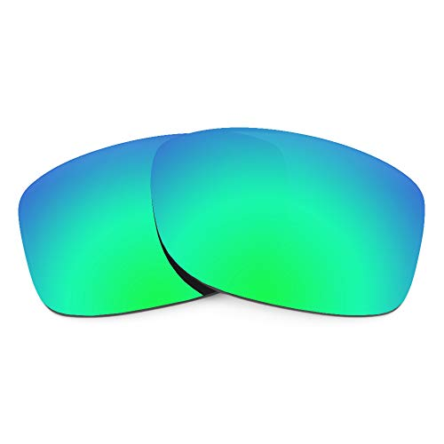 Revant Verres de Rechange Compatibles avec Oakley Jupiter Squared, Polarisés, Vert émeraude MirrorShield