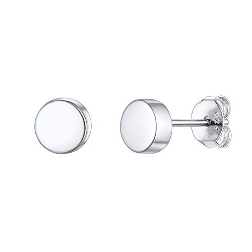 Tiny Dot Stud Earrings for Women 925 Sterling Silver Small Earring Hypoallergenic Girlfriend Gift
