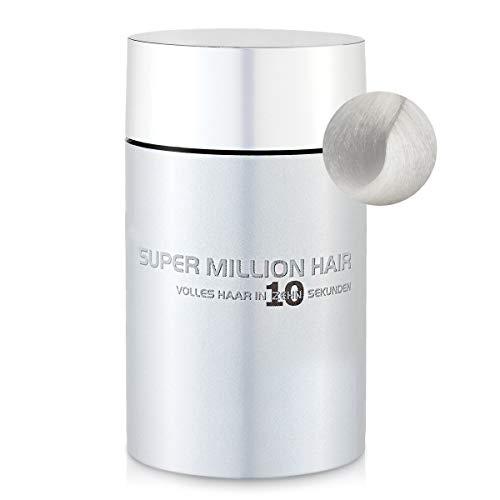 Super Million Hair Haar Fasern und Schütthaar, hochwertiges Streuhaar zur Haarverdichtung, 25 g, White (15)