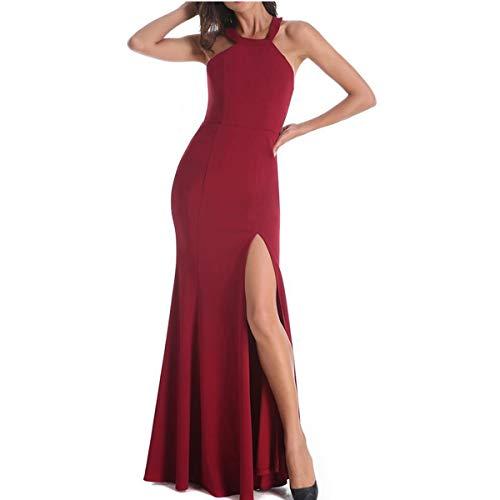 ZLDDE Kleider Damen RüCkenfrei Neckholder Abendkleider Elegant Cocktailkleid