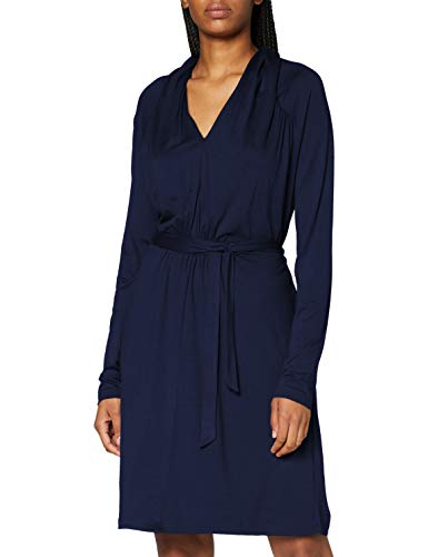 Esprit 090EE1E309 Robe, 400/bleu Marine, XXS Femme