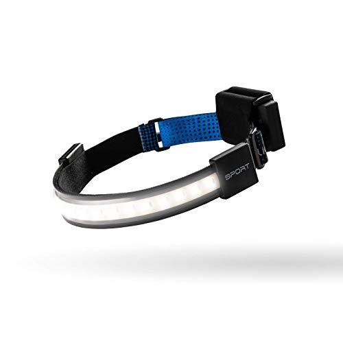 LIGHTBAR Sport   LED Headlamp, 300 Lumens, W/Spotlight, Waterproof Rated, Rechargeable Battery, Camping Running Biking Fishing Construction