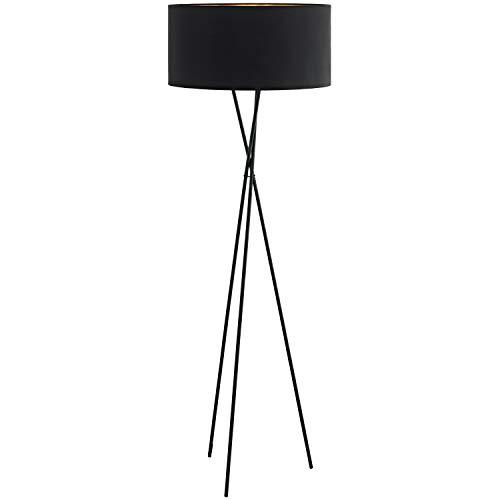 EGLO FONDACHELLI staande lamp, staal, 60 W, zwart