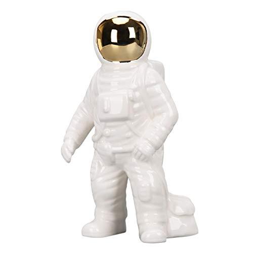iBaste Decoración de cerámica astronauta, figura de astronauta, estatuas del Spaceman, escultura...