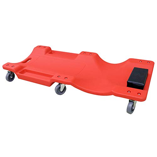 """GOGOLO Werkstatt Rollbrett Auto KFZ 40"""", werkstatthocker mit Rollen 150kg Tragkraft mechanisch, Dual Werkzeug Tabletts,Gepolsterte Kopfstütze"""
