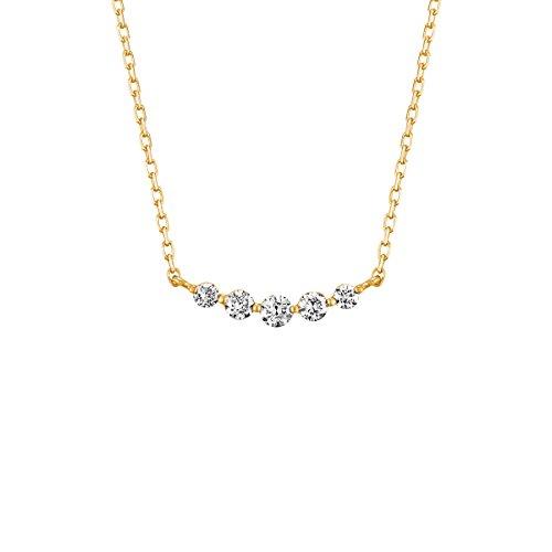 4℃(ヨンドシー) ダイヤモンドK18イエローゴールド(YG)ネックレス 111741123016