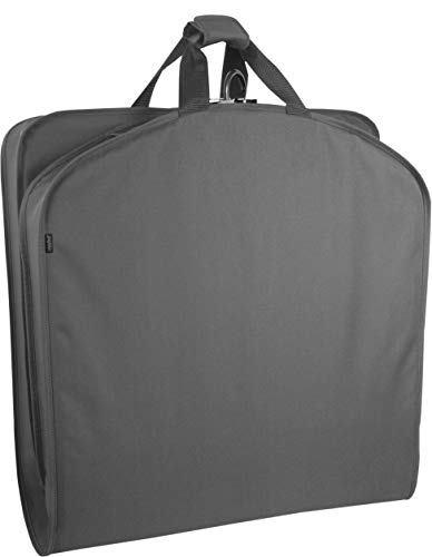 WallyBags 40 inch Garment Bag Suit and Coat Carrier, Charcoal