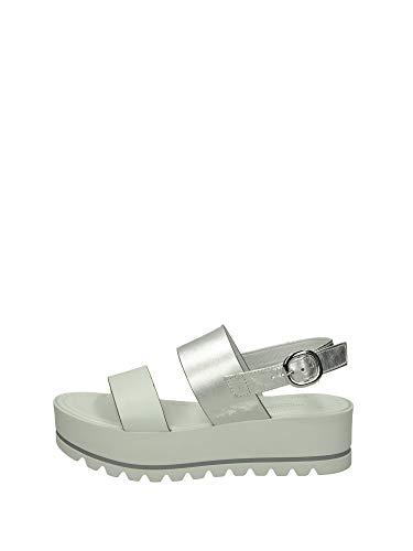Sandalo da Donna NeroGiardini in Pelle Bianco E012581D. Scarpa dal Design Raffinato. Collezione Primavera Estate 2020. EU 38