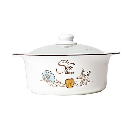 HPKC Casserole Kochgeschirr aus Keramik Geschirr Dutch Oven, langlebig und leicht zu reinigen, Multi-Purpose in einem Topf, Kapazität 3L