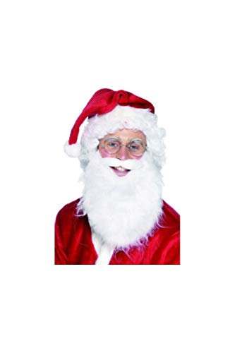 Smiffy's, Bianco Smiffys Barba di Babbo Natale, Uomo, Taglia unica, 21483