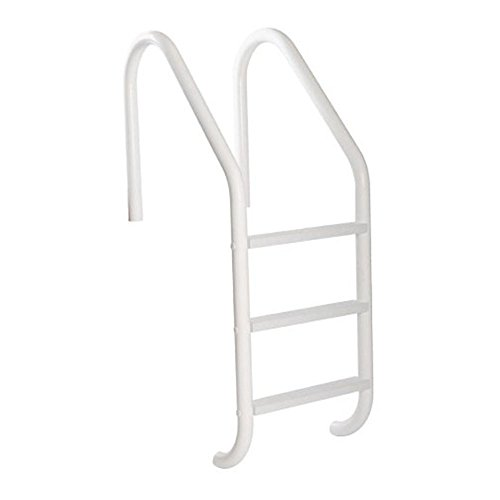 S.R. Smith VLLS-103E-VW SealedSteel 3-Step Pool Ladder with White Plastic Steps, White Escutcheons