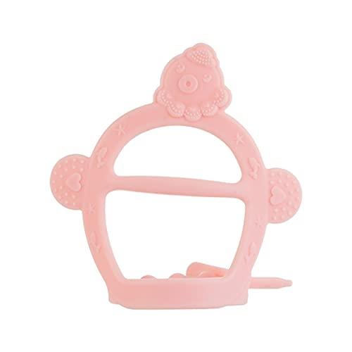 SeniorMar Juguetes para la dentición del bebé Mordedor Infantil de Silicona de Grado alimenticio Diseño de Pulsera Ajustable autocalmante sin caída