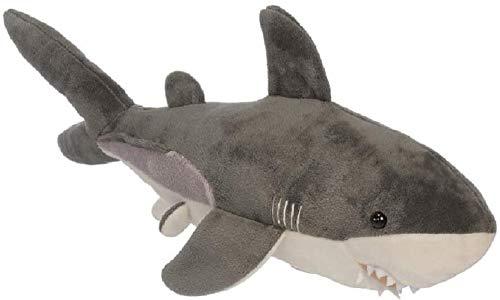 Bavaria Home Style Collection Weißer Hai 40 cm - Tier Kuscheltier Stofftier Plüschtier Tröster - Deko Dekofigur Plüsch