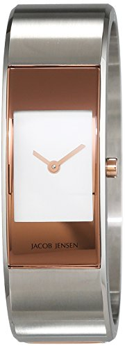 JACOB JENSEN Damen Analog Quarz Uhr mit Edelstahl Armband Eclipse Item NO. 445