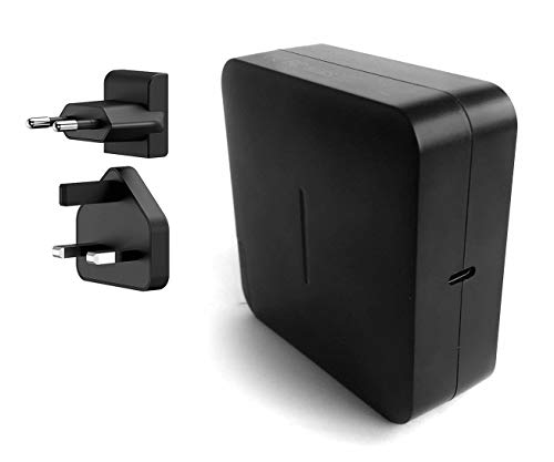 87W USB-C Power Adapter Charger, PD Power Delivery Compatible with Macbook Pro Air 12 13 15 (UK/EU Plug for Traveling)