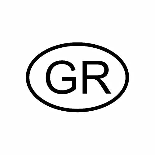 A/X Sticker de Carro 14,5 CM * 9,9 CM Pegatina DE Coche Vinilo GR Grecia CÓDIGO DE PAÍS Oval Negro Plata C10-01205Negro